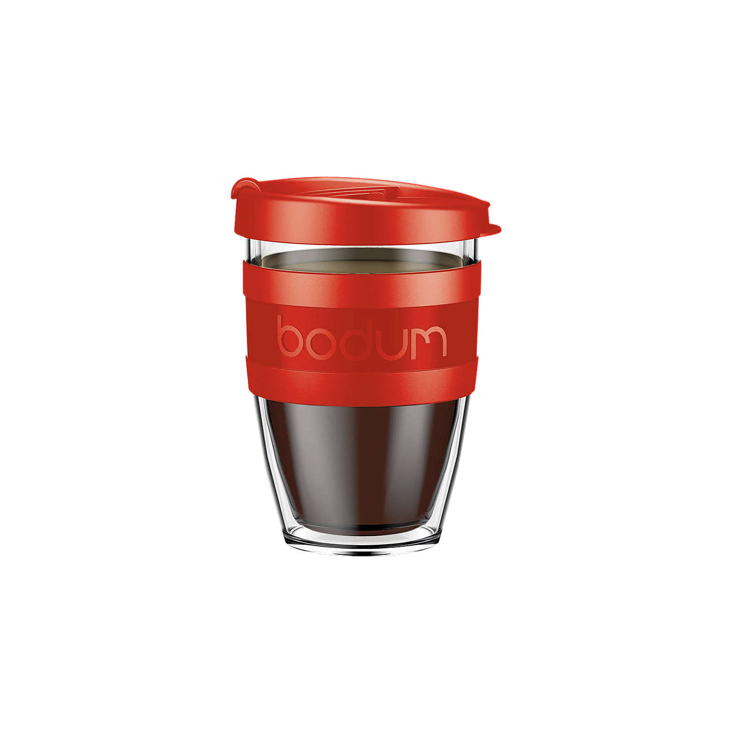 BuyBodum Joy Cup Double Wall Travel Mug, 300ml, Red Online at johnlewis.com
