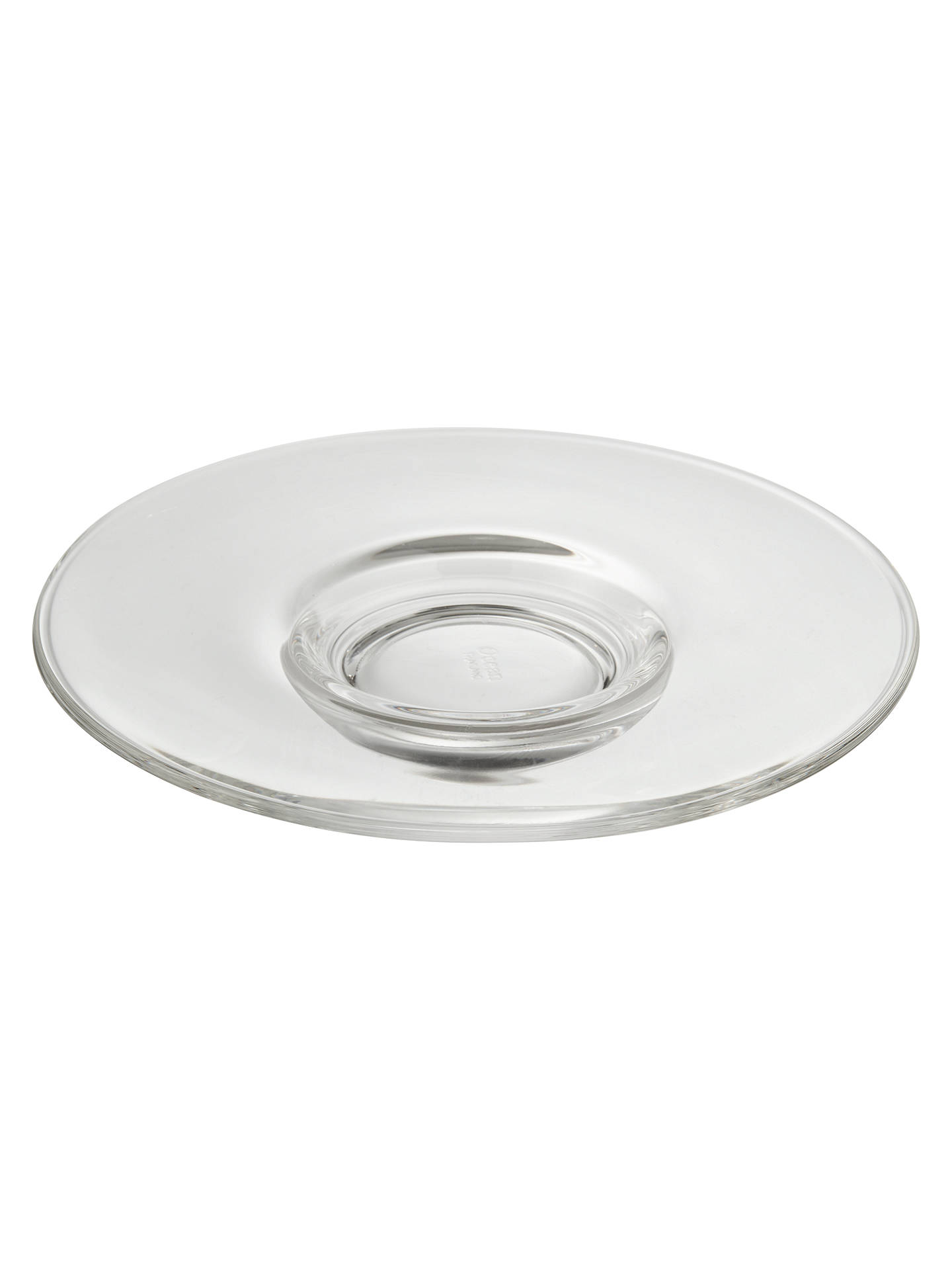 Buy John Lewis & Partners Coffee Connoisseur Glass Kenya Saucer, 11.2cm, Clear Online at johnlewis.com