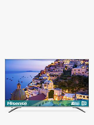 "Hisense 65A6500 LED HDR 4K Ultra HD Smart TV, 65"" with Freeview Play, Black/Silver"