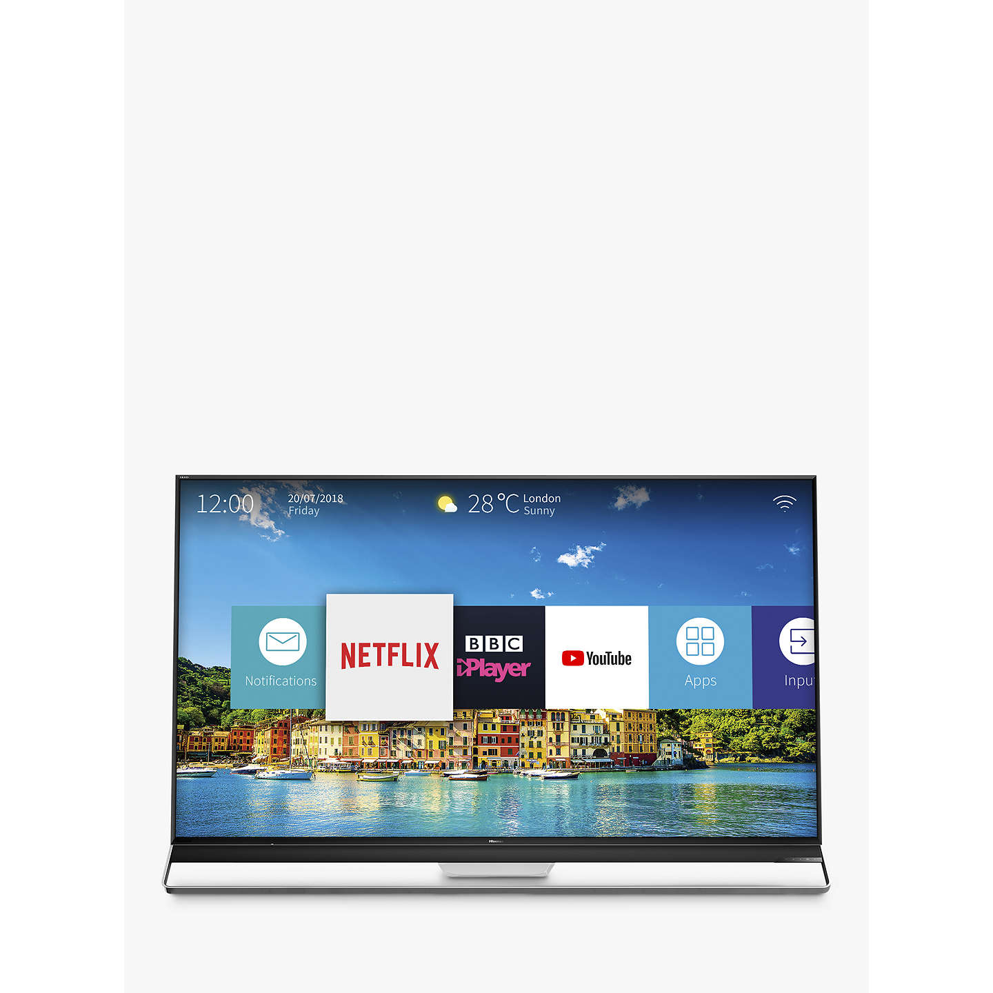 "BuyHisense 75U9A ULED HDR 4K Ultra HD Smart TV, 75"" with Freeview Play, Ultra HD Certified, Black/Silver Online at johnlewis.com"