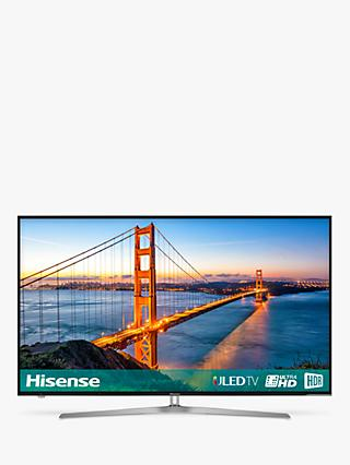 "Hisense 65U7A ULED HDR 4K Ultra HD Smart TV, 65"" with Freeview Play, Ultra HD Certified, Black/Silver"