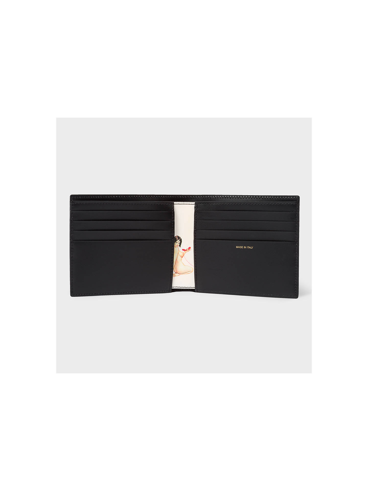 BuyPS Paul Smith Naked Lady Print Interior Bifold Leather Wallet, Black Online at johnlewis.com