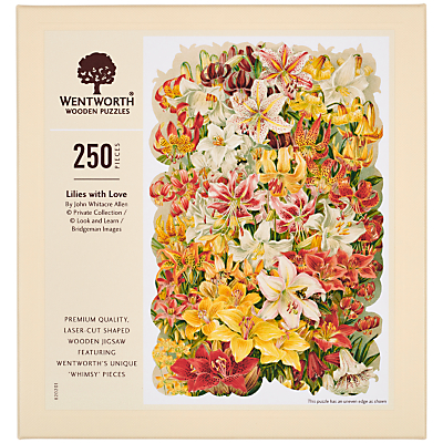 Image of Wentworth Wooden Puzzles Lilies With Love Jigsaw Puzzle, 250 Pieces