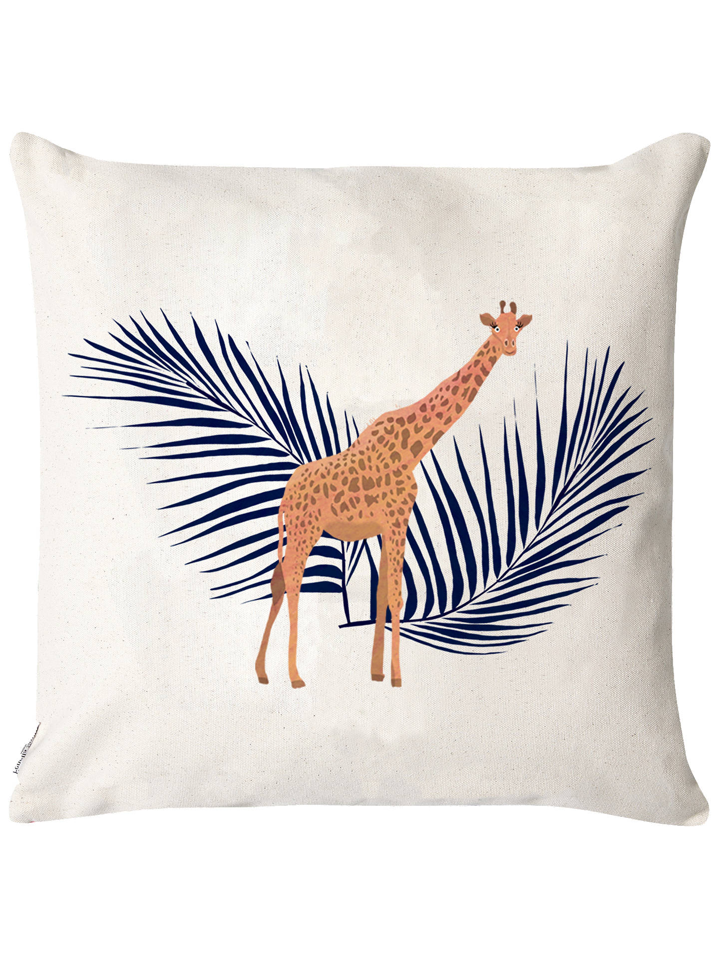 Giraffe and Palm Cushion