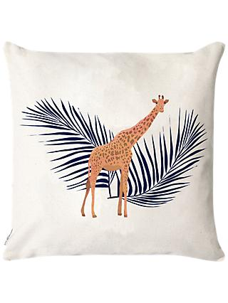 Fenella Smith Giraffe & Palm Cushion