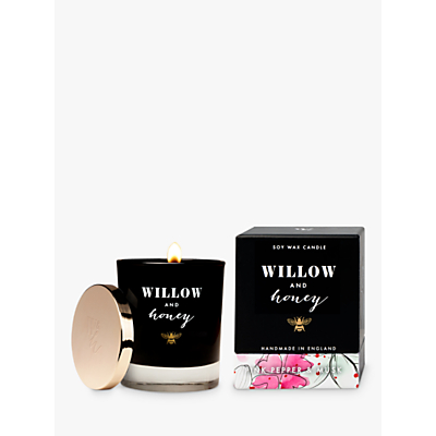 Willow and Honey Pink Pepper & Musk Scented Candle, 600g