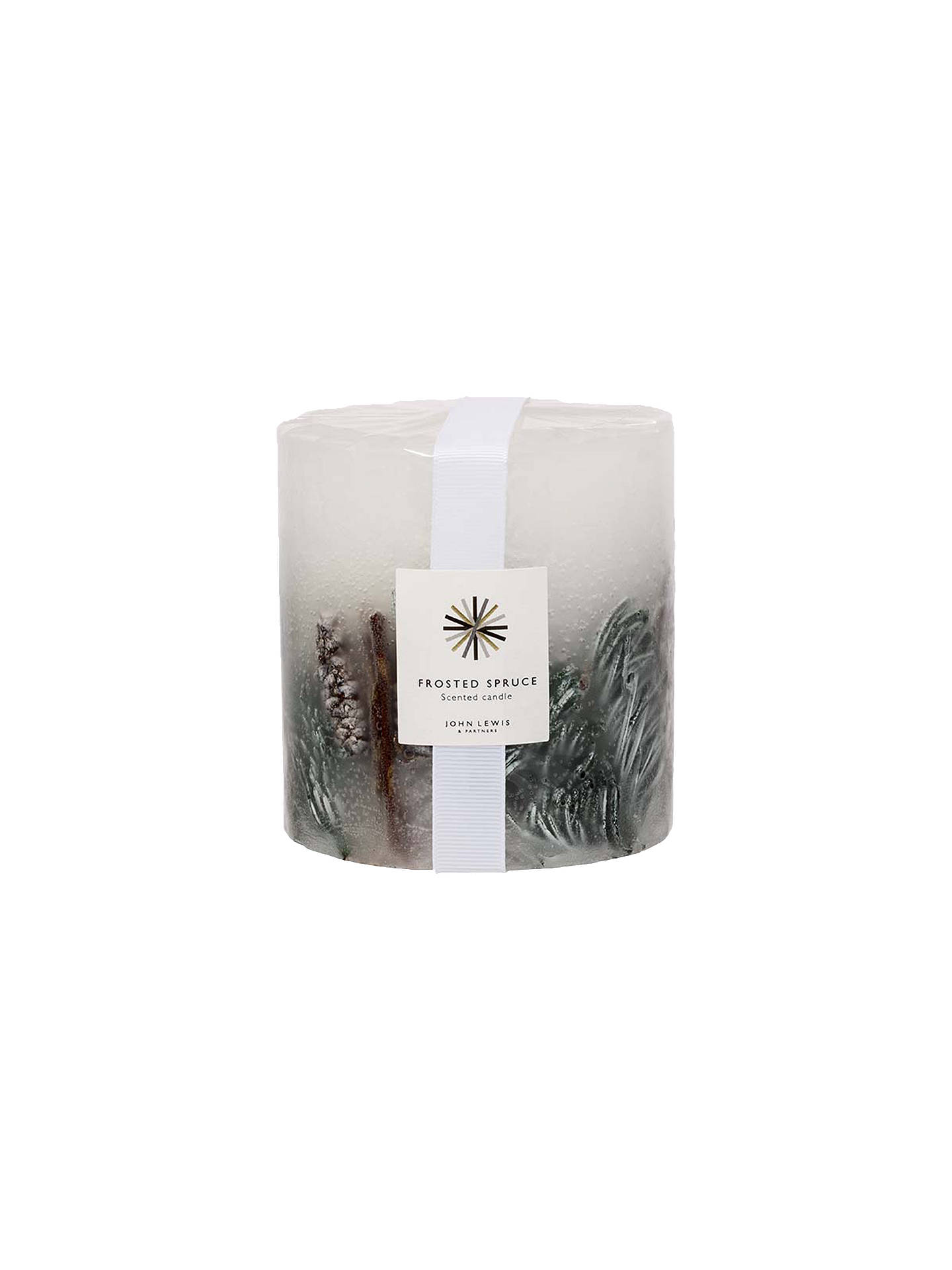 BuyJohn Lewis & Partners Frosted Spruce Inclusions Scented Candle, 586g Online at johnlewis.com