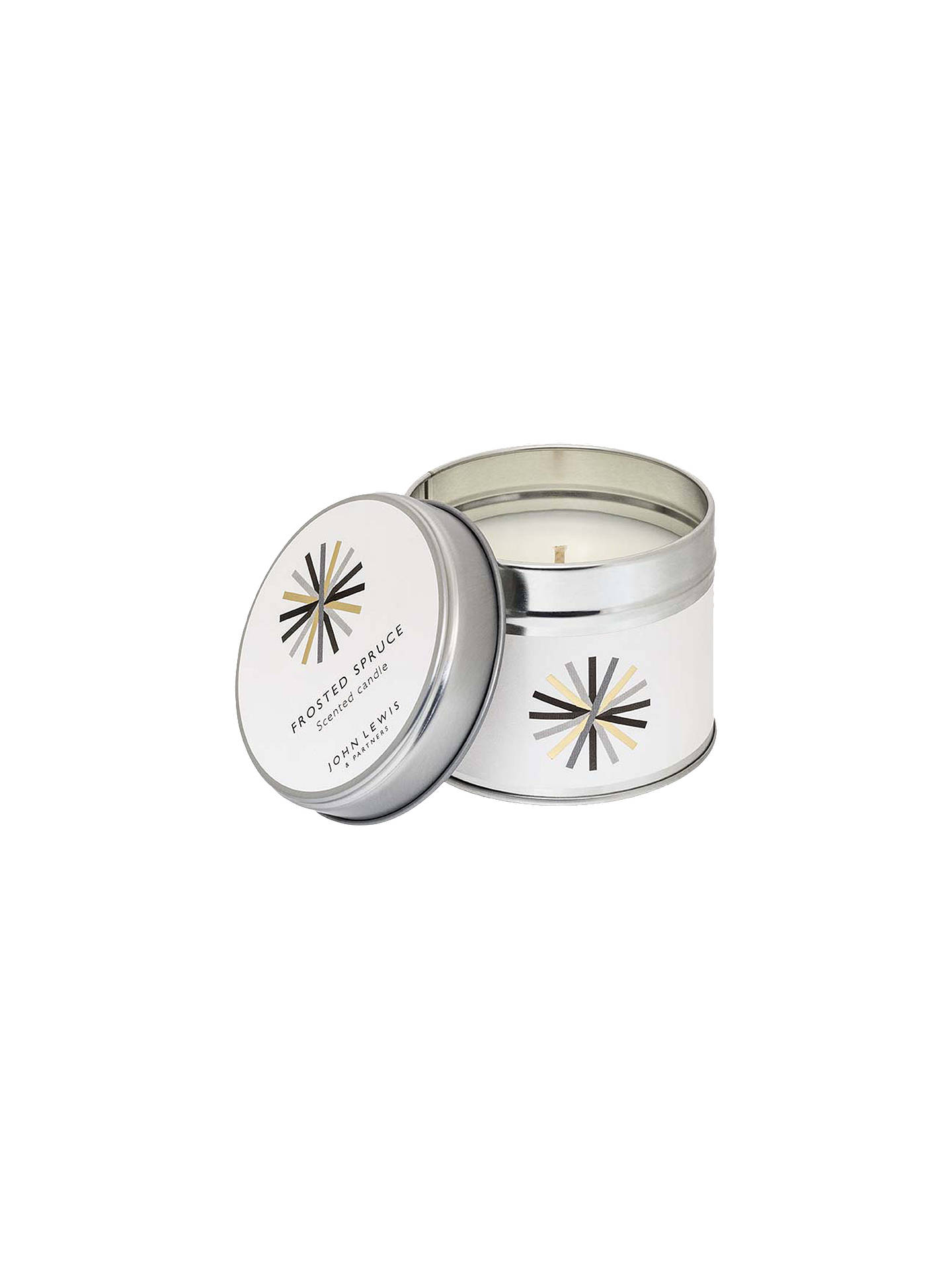 Buy John Lewis & Partners Frosted Spruce Tin Candle, 196g Online at johnlewis.com