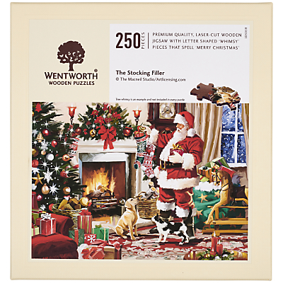 Image of Wentworth Wooden Puzzles Santa Jigsaw Puzzle, 250 Pieces