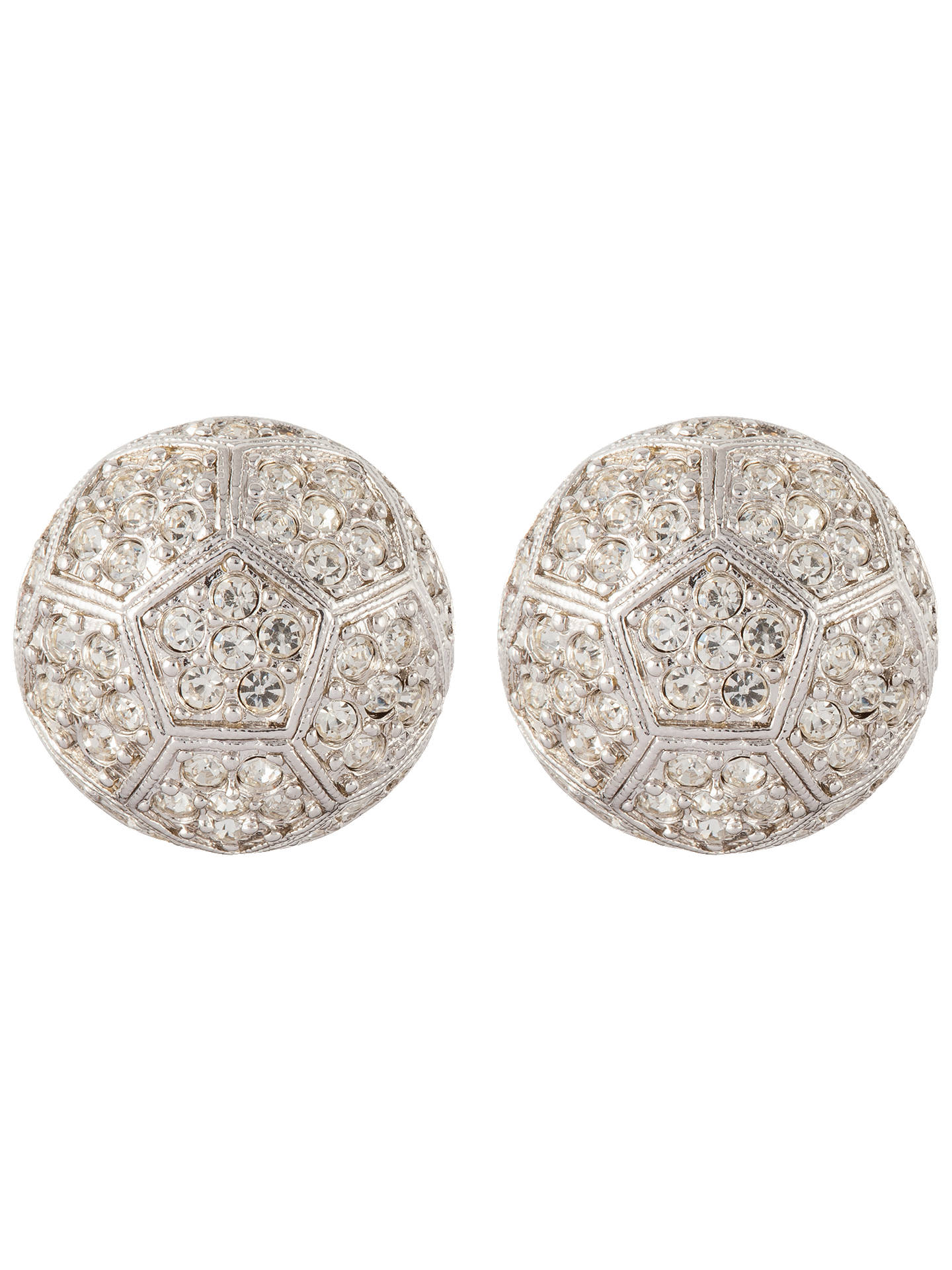 624626e4d Buy Susan Caplan Vintage Nina Ricci Silver Plated Swarovski Crystal Round  Clip-On Earrings, ...