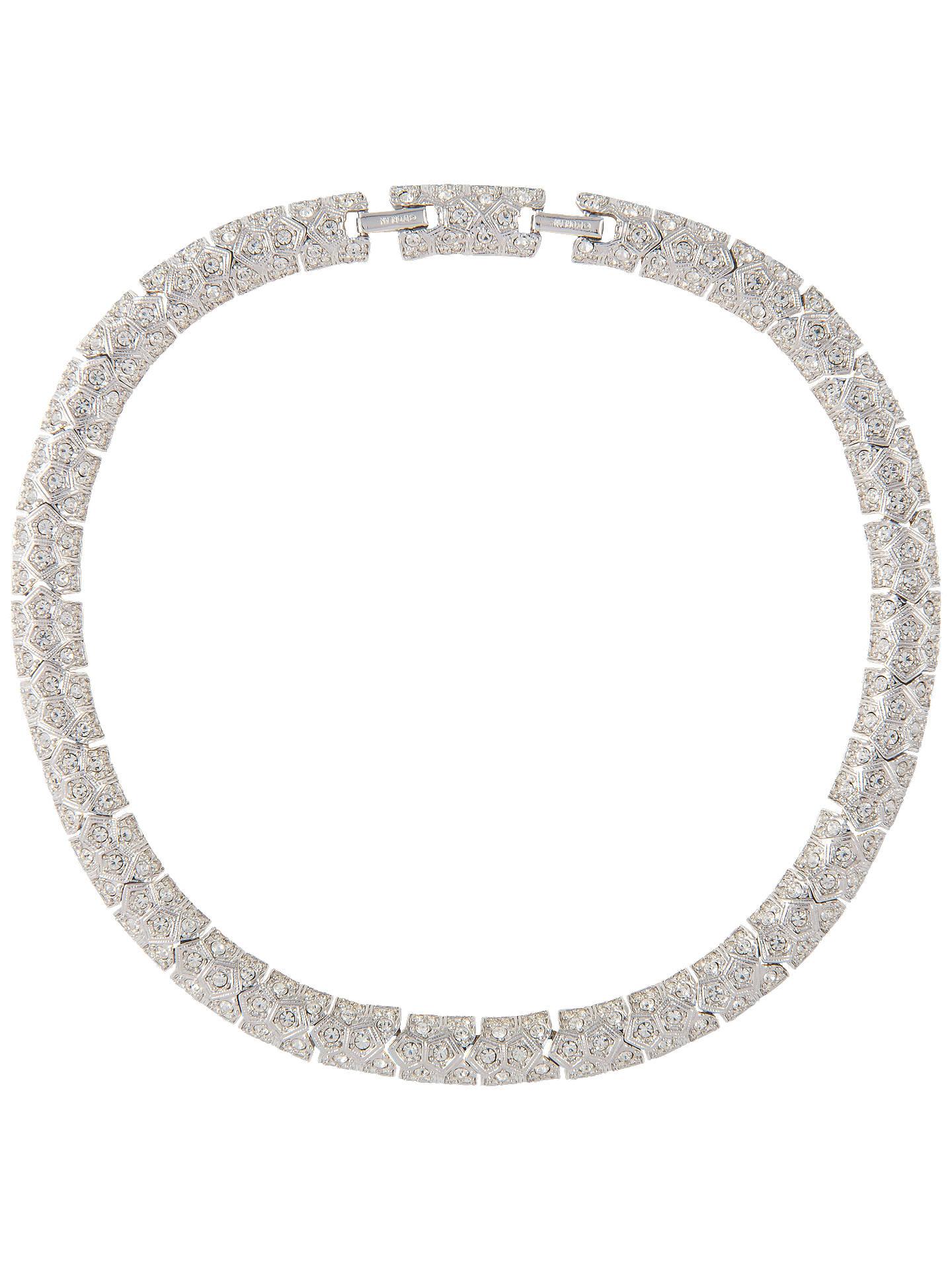 89473500b078 Buy Susan Caplan Vintage D Orlan Silver Plated Swarovski Crystal Flat Link  Collar Necklace