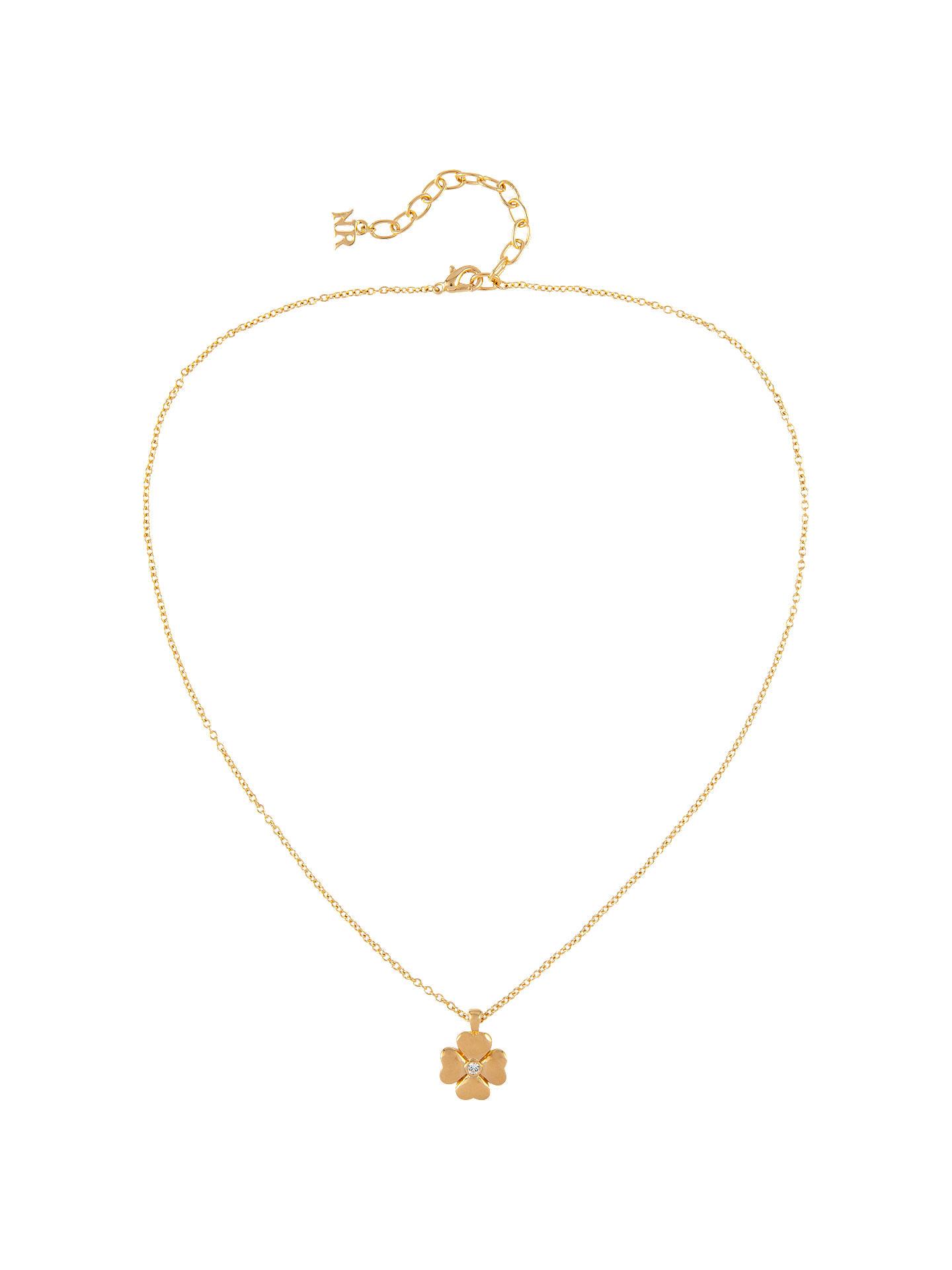 0aec9f6ceee Buy Susan Caplan Vintage 22ct Gold Plated Swarovski Crystal Four Leaf  Clover Pendant Necklace, Gold ...