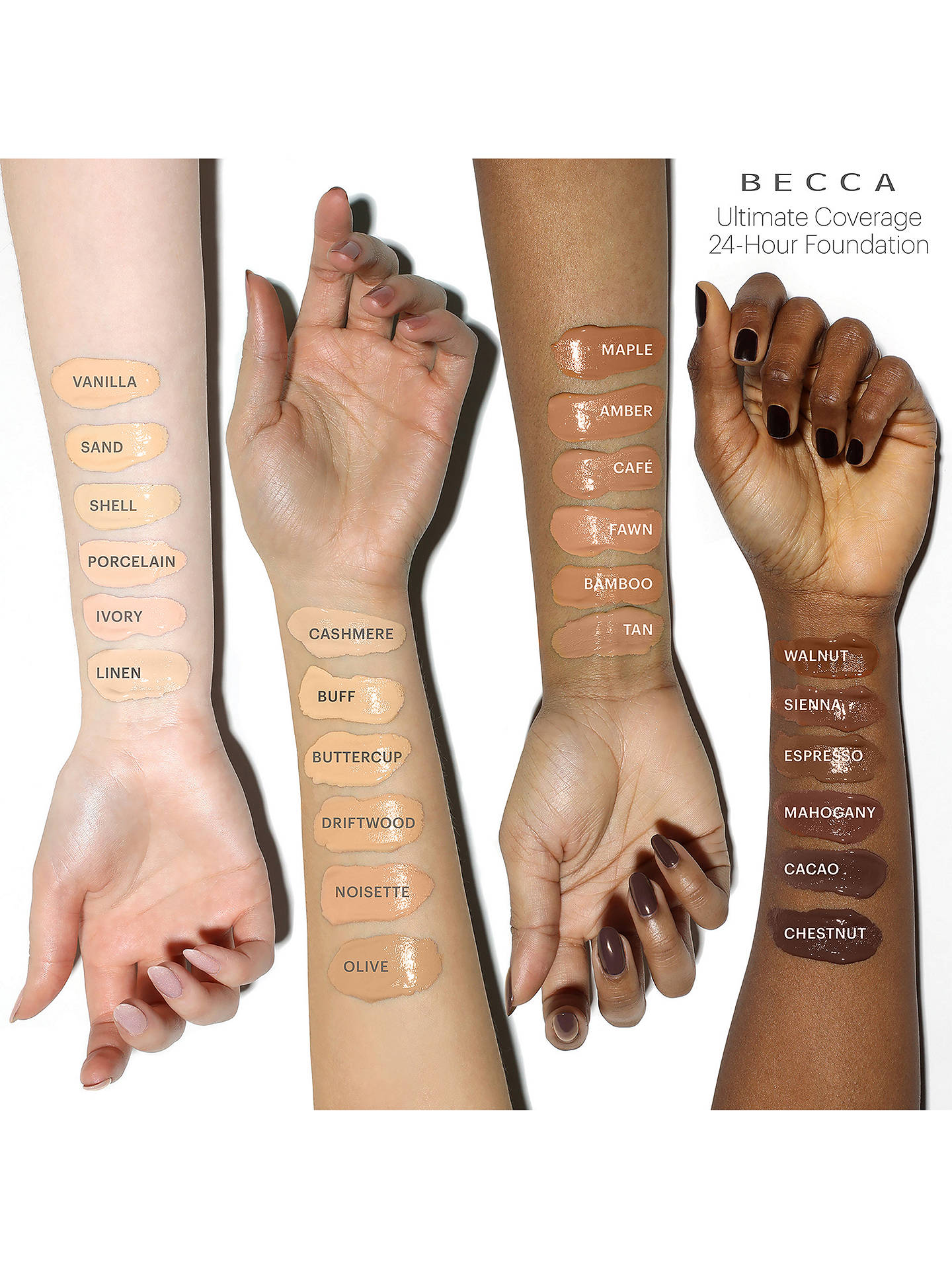 BuyBECCA Ultimate Coverage 24 Hour Foundation, Linen Online at johnlewis.com