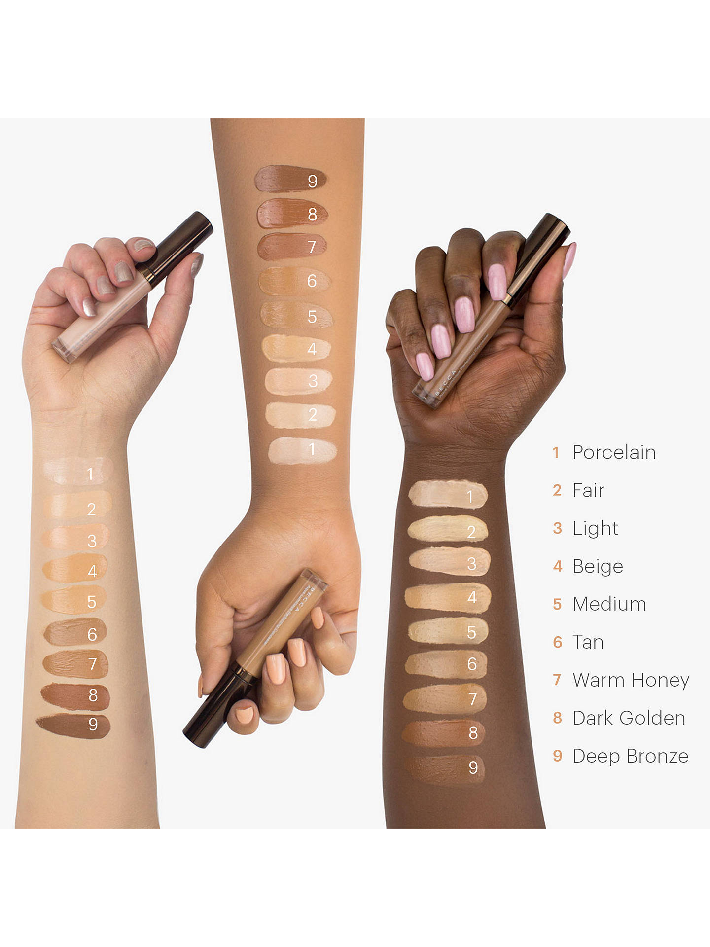 Buy BECCA Aqua Luminous Perfecting Foundation, Deep Bronze Online at johnlewis.com
