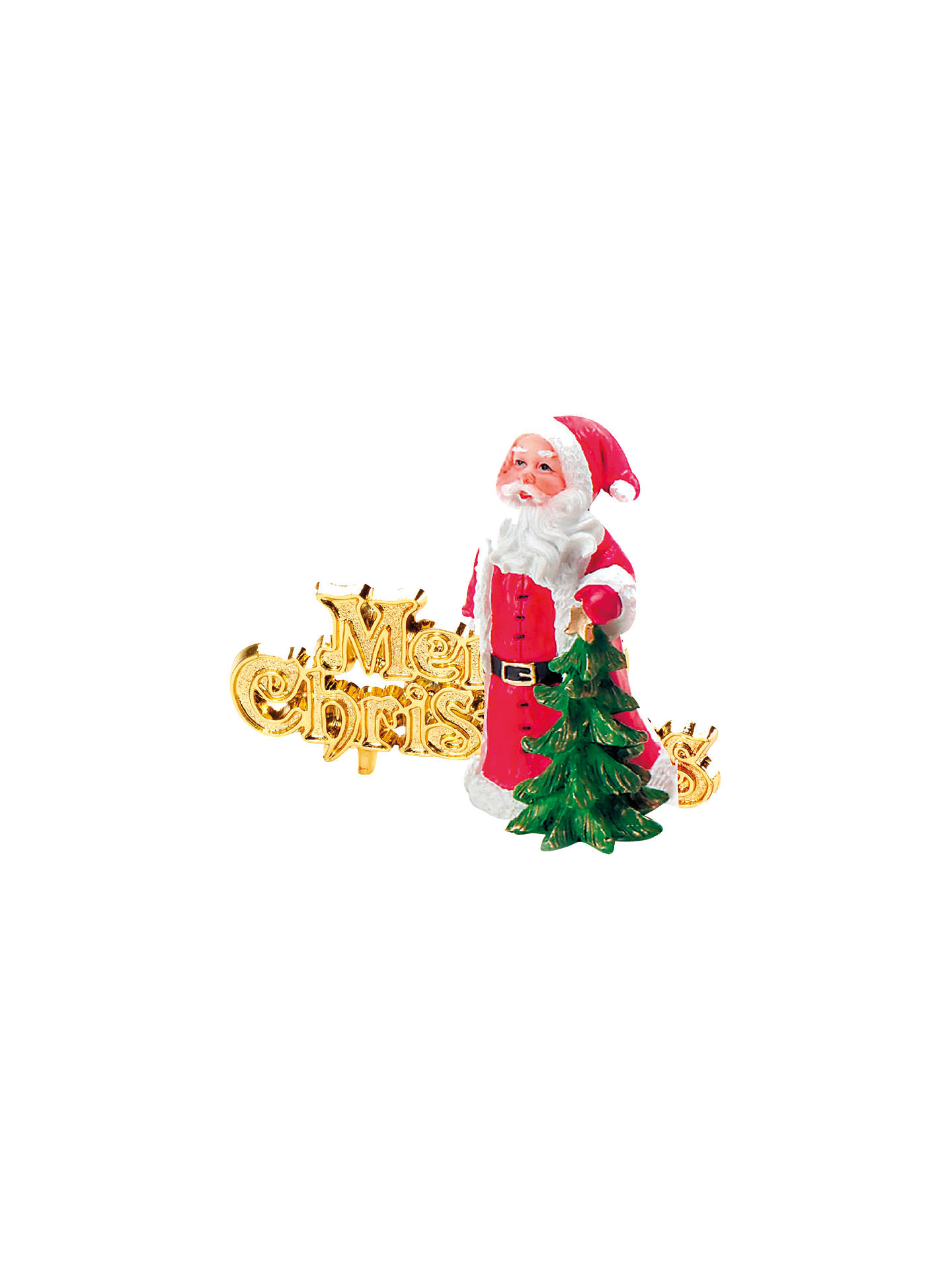 Buy John Lewis & Partners Father Christmas Tree Cake Topper, Red Online at johnlewis.com
