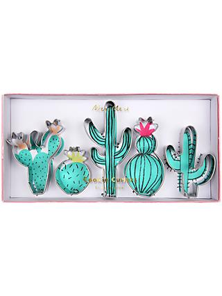 Meri Meri Cactus Cookie Cutters, Set of 5