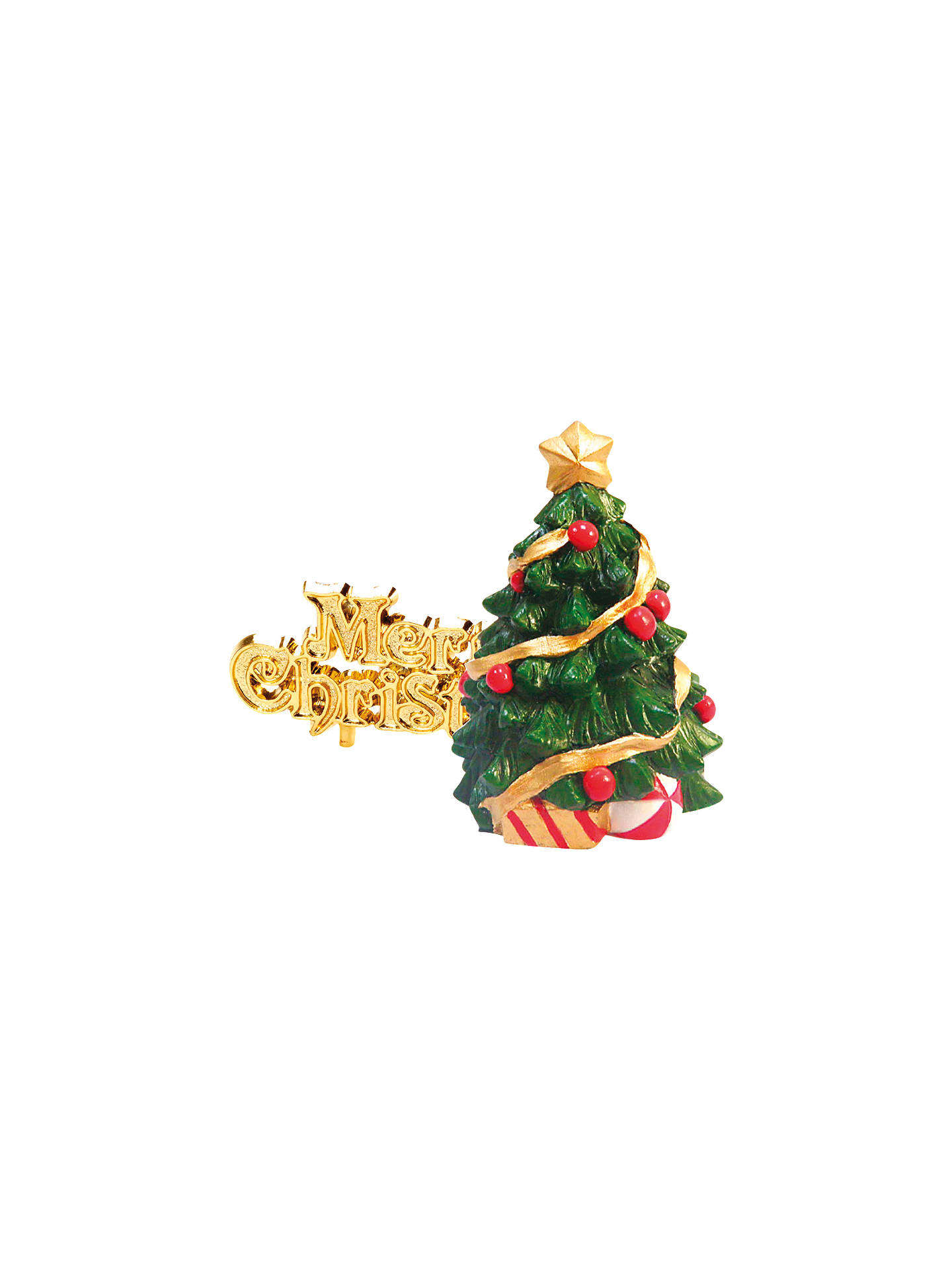 Buy John Lewis & Partners Christmas Tree Cake Topper, Green Online at johnlewis.com