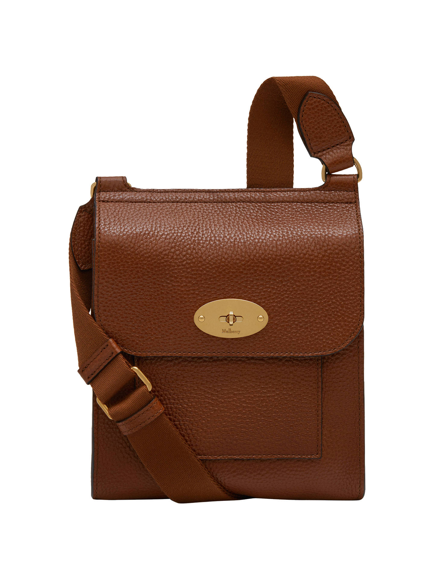 ad92ea26e19 Buy Mulberry Antony Grain Veg Tan Leather Small Satchel, Oak Online at  johnlewis.com ...