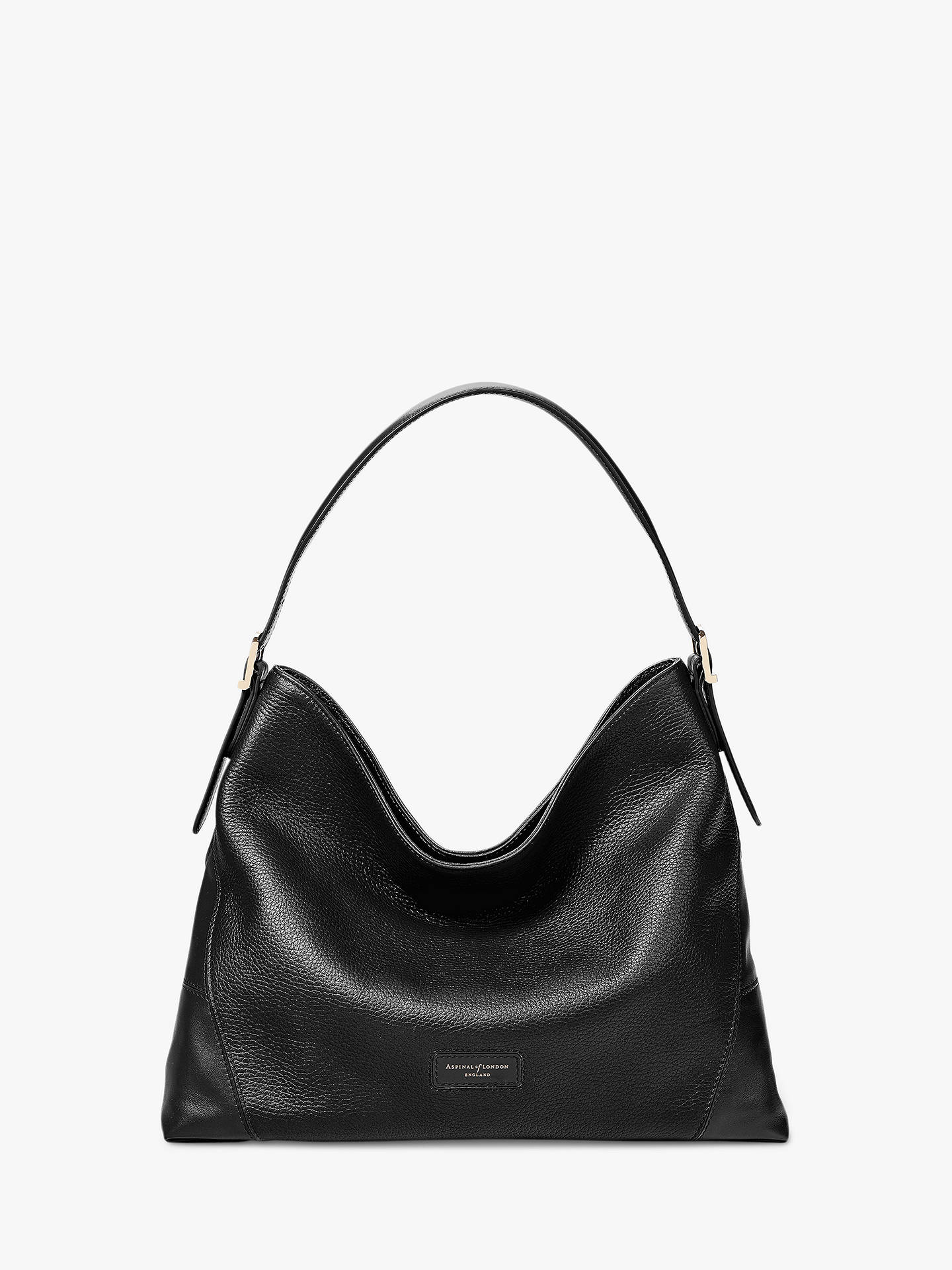 fe5e4a4335 Aspinal of London Small Leather Hobo Bag at John Lewis   Partners