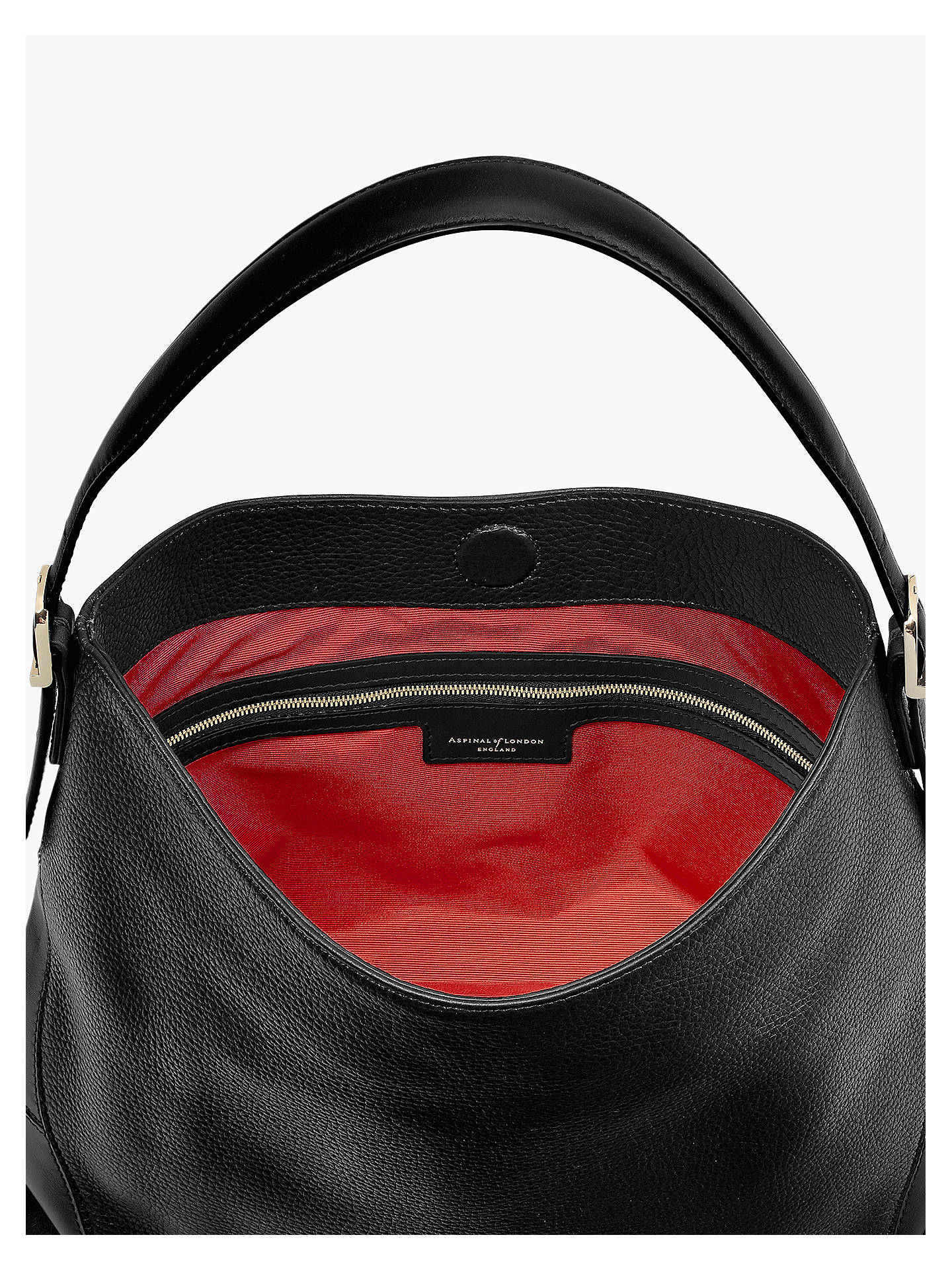 f60a389f008c Aspinal of London Small Leather Hobo Bag at John Lewis   Partners