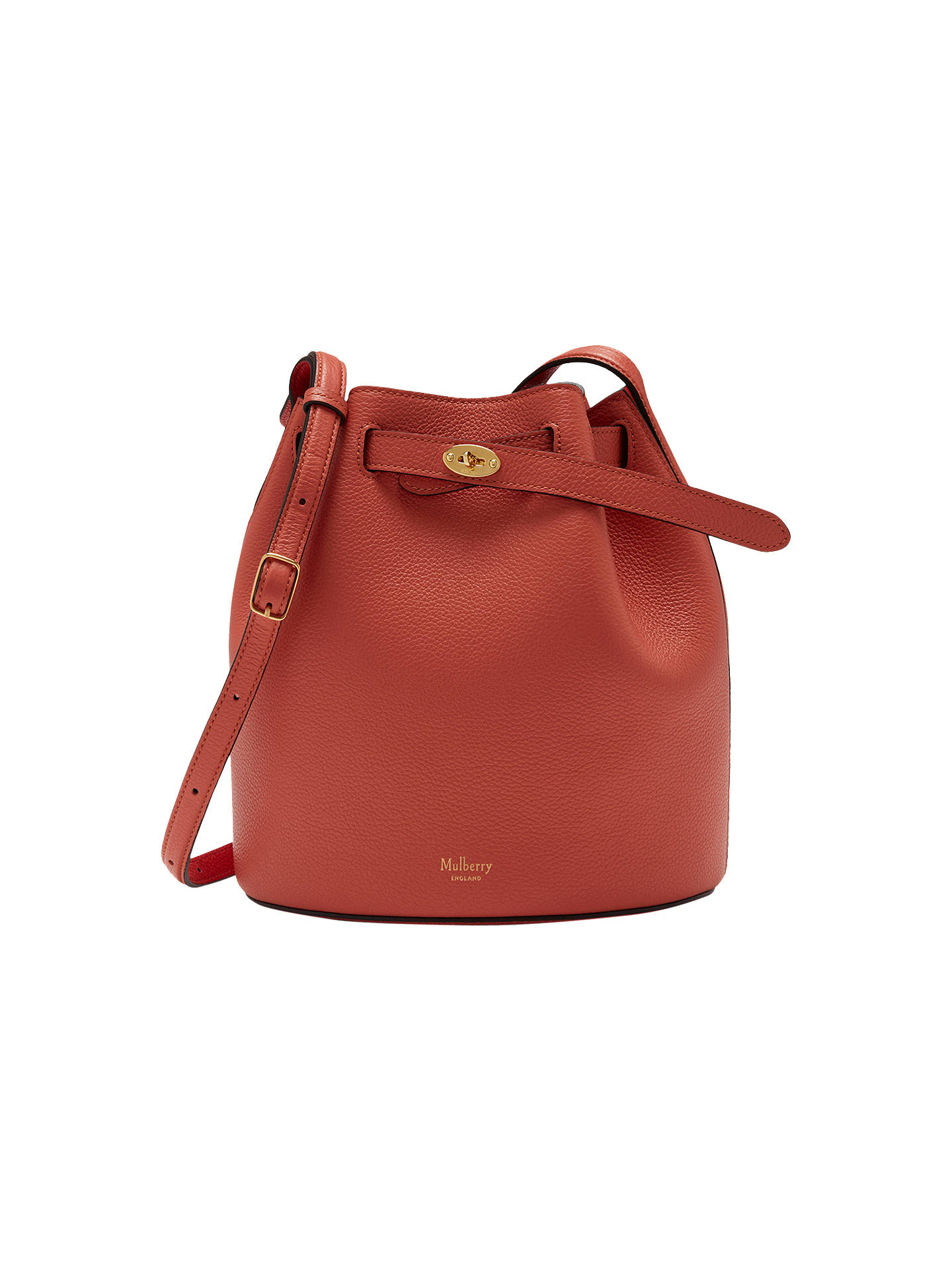 Mulberry Abbey Small Classic Grain Leather Bucket Bag at John Lewis ... 31f389a9731ab