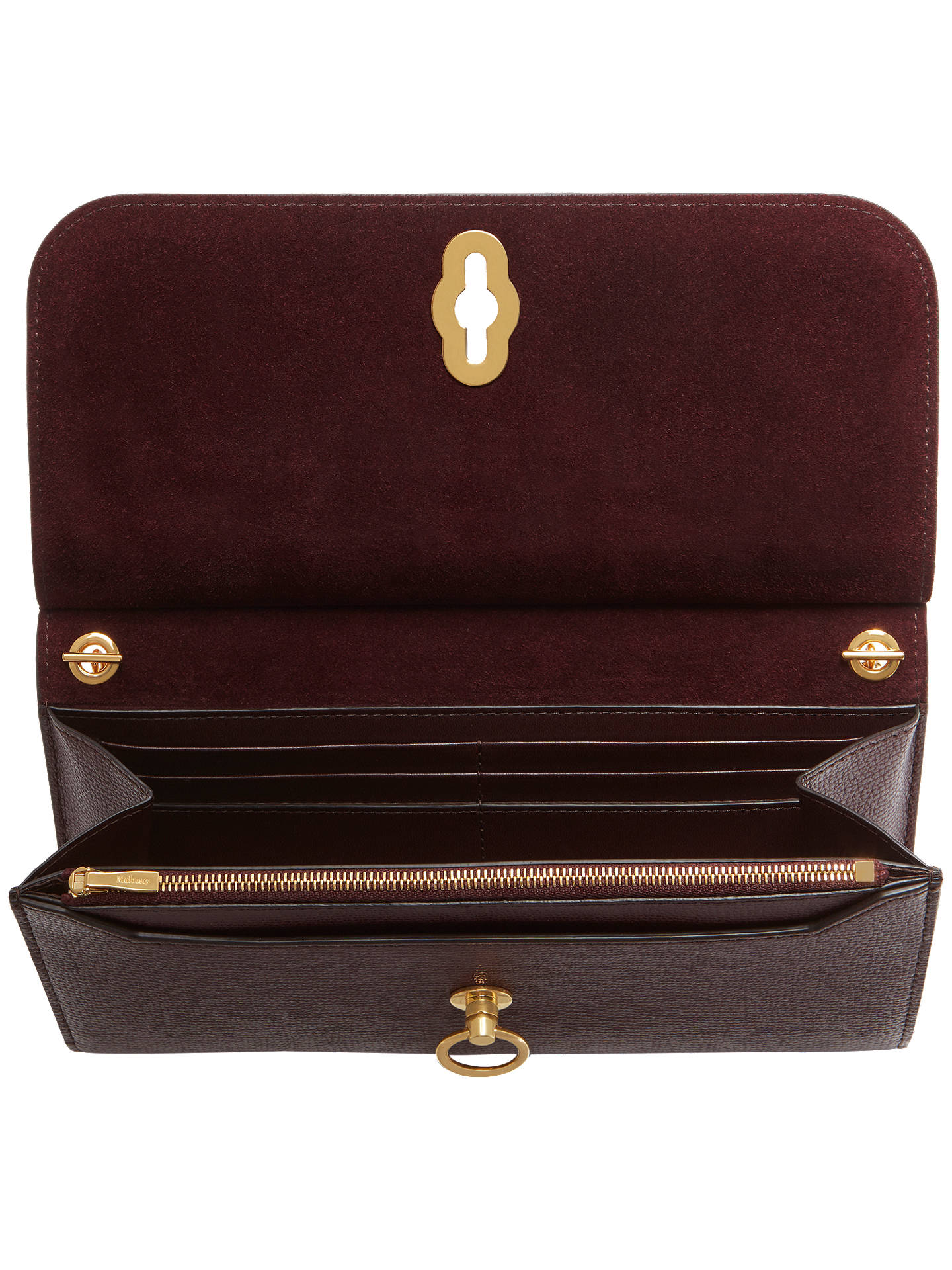 93508f5ea232 Mulberry Amberley Cross Grain Leather Clutch Bag at John Lewis ...