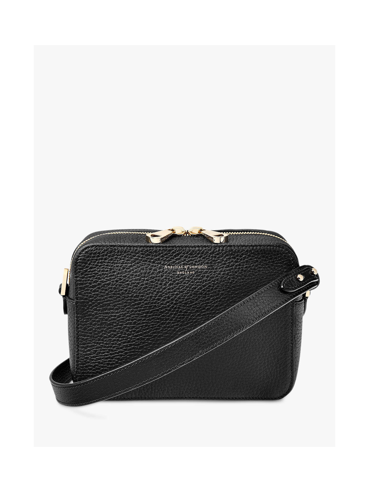 fa21564dd1ac Aspinal of London Blogger Leather Cross Body Bag at John Lewis ...