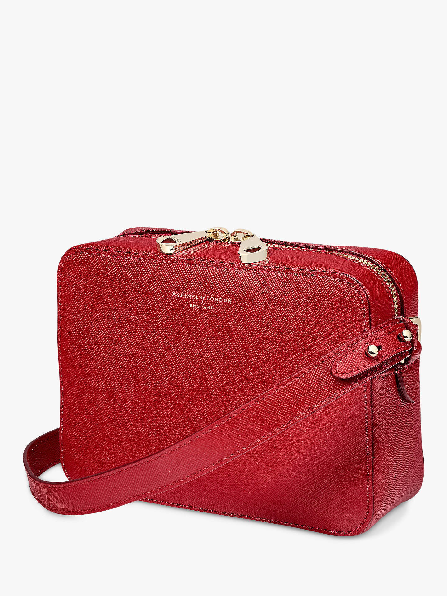 BuyAspinal of London Blogger Leather Cross Body Bag, Scarlett Online at johnlewis.com