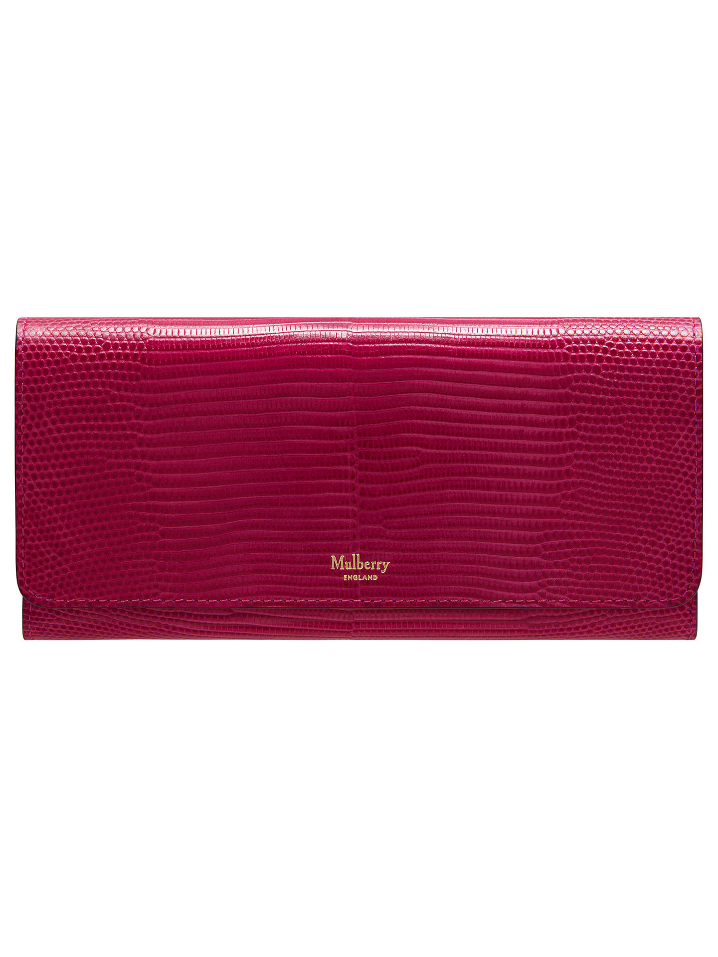 BuyMulberry Continental Leather Wallet, Deep Pink Online at johnlewis.com