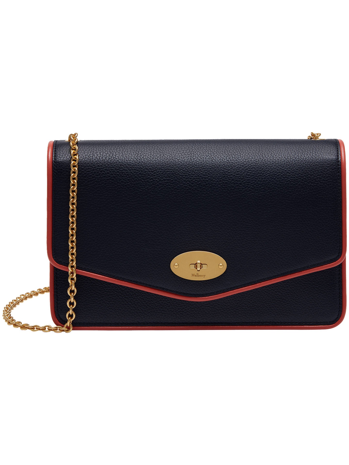 Mulberry Darley Small Classic Grain Leather Piping Cross Body Bag ... 41f755d8c5fdc