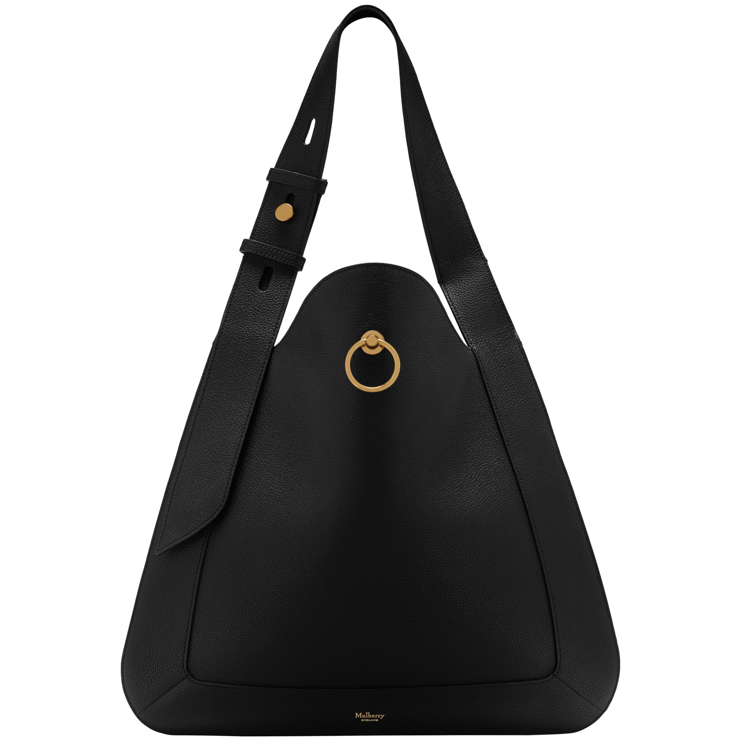 bb1aedda65cf Mulberry Marloes Small Classic Grain Leather Hobo Bag at John Lewis    Partners