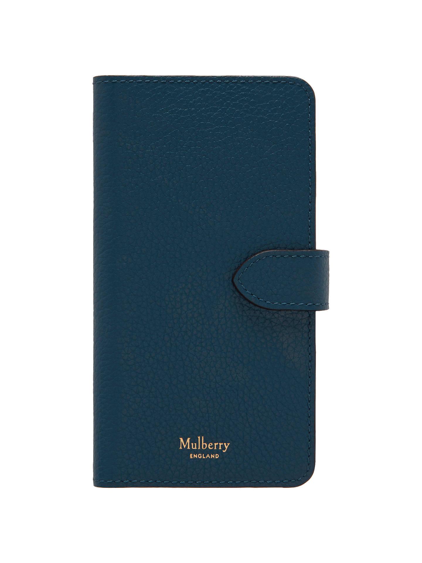 meet ff4ce 788a5 Mulberry Leather iPhone Flip Case, Deep Sea
