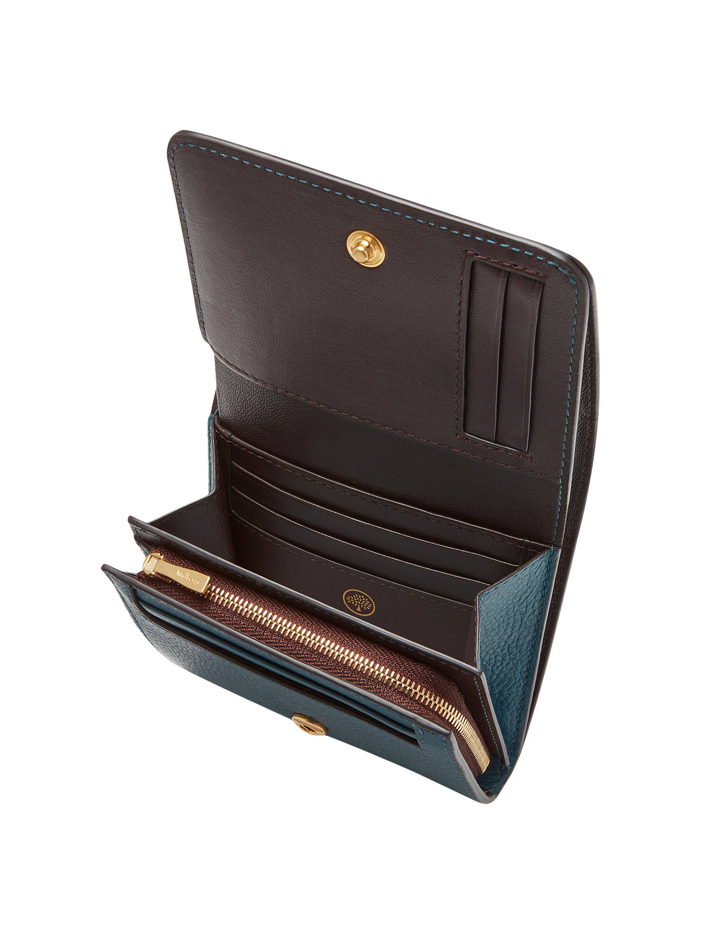 9e61af7349 denmark mulberry bow continental wallet 811d8 ef9f3  50% off buymulberry  leather small continental french purse deep sea online at johnlewis fcbbe  73959