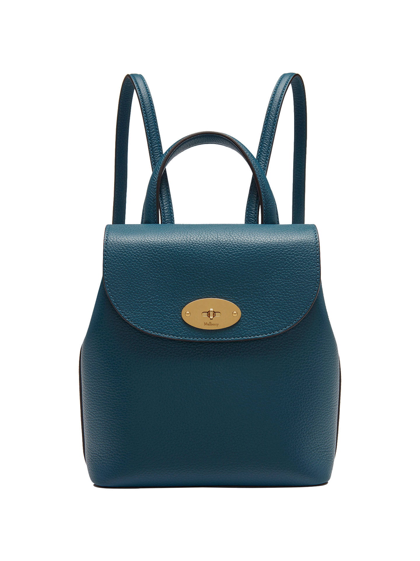 e281390386 Buy Mulberry Bayswater Leather Mini Backpack, Deep Sea Online at  johnlewis.com ...