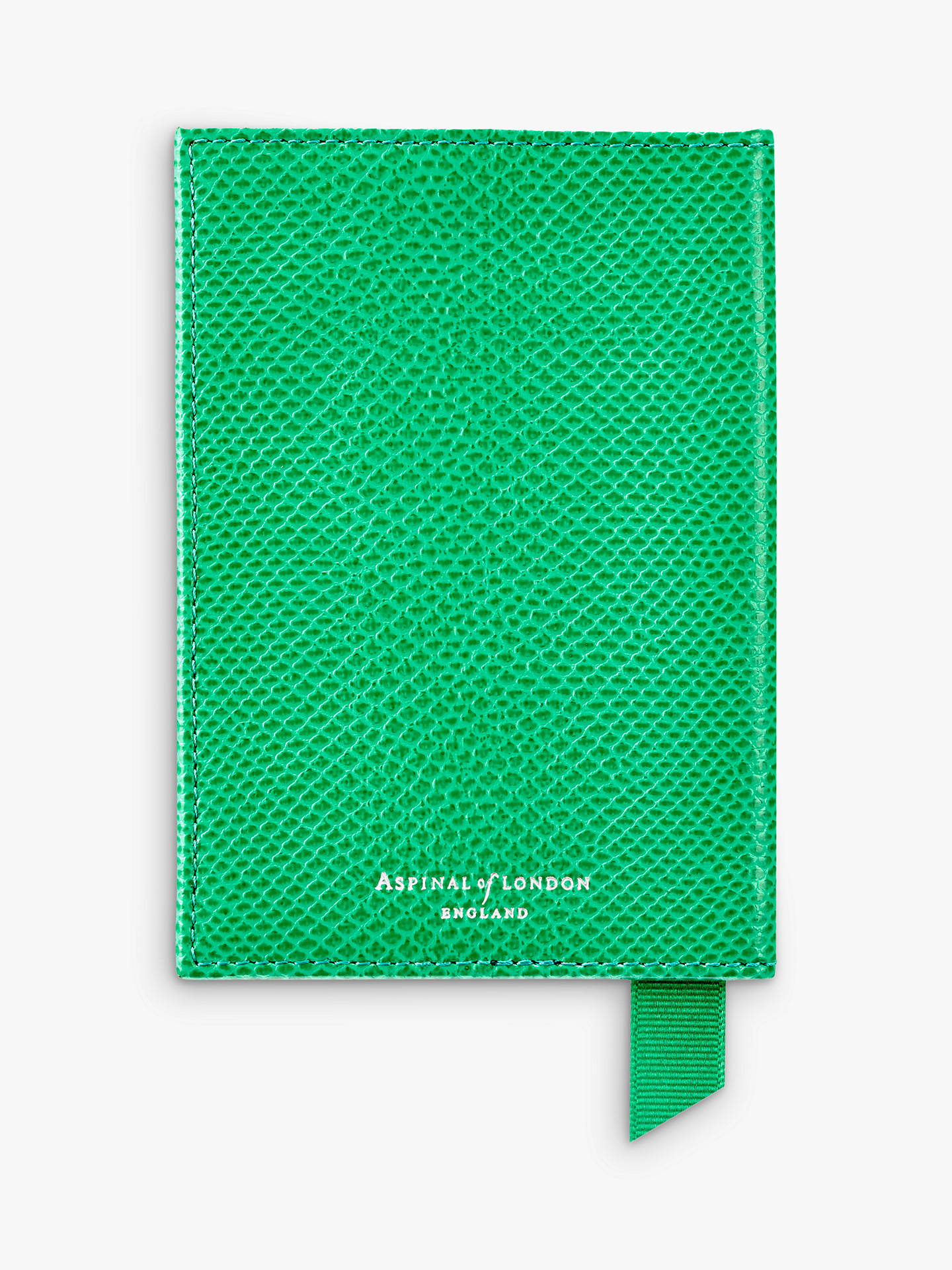 Buy Aspinal of London Leather Passport Cover, Grass Green Online at johnlewis.com