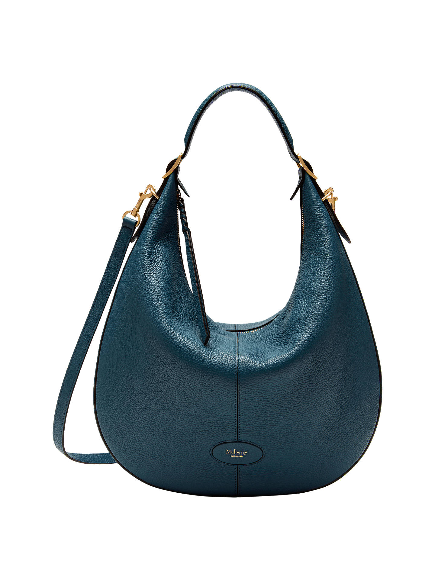 1c8597562b sale buymulberry small selby classic grain leather hobo bag deep sea online  at johnlewis c23be 8f1e9