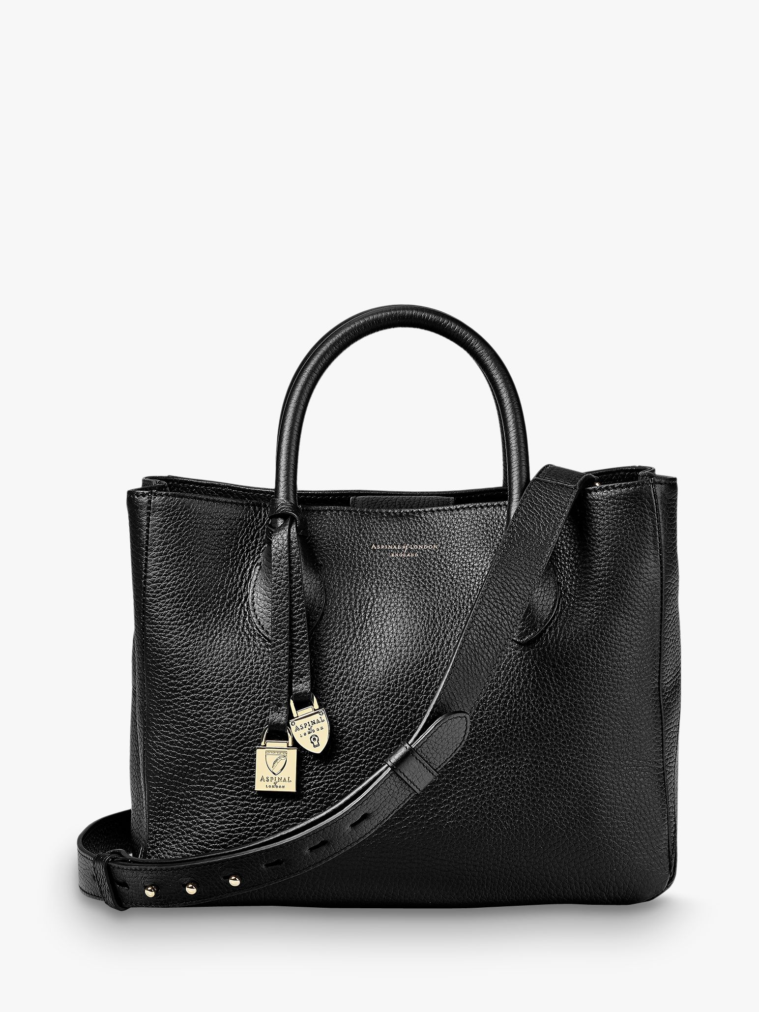 19984aa191ea4 Aspinal of London Small Leather Tote Bag at John Lewis   Partners
