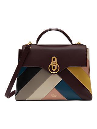 Mulberry Seaton Small Leather Chevron Satchel Bag Multi
