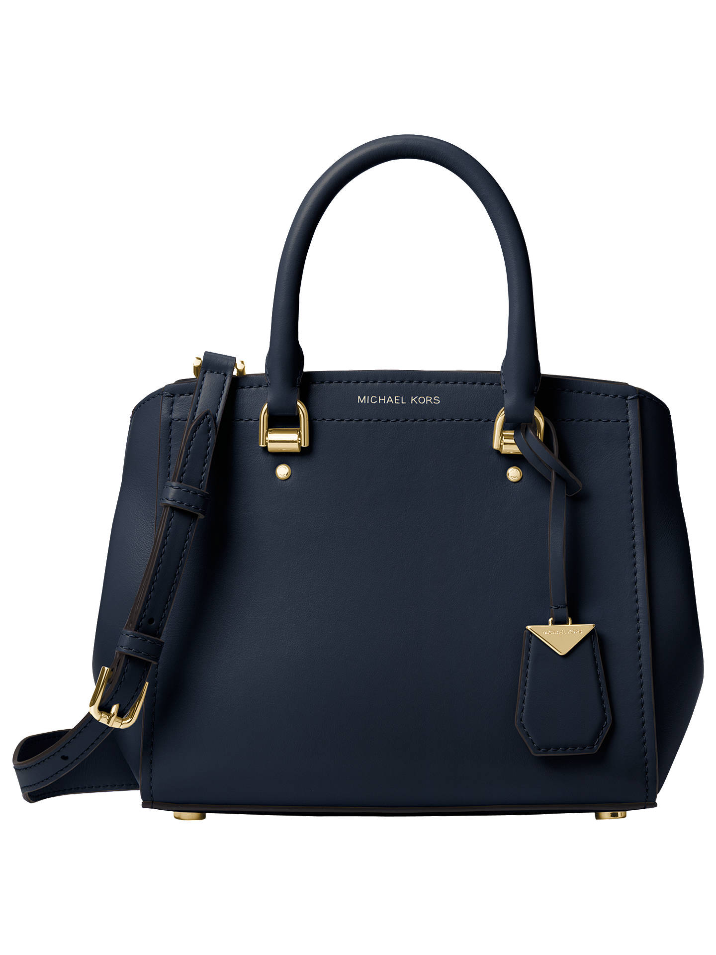 cd3100c3e6ab93 Buy MICHAEL Michael Kors Benning Messenger Bag, Admiral Blue Online at  johnlewis.com ...