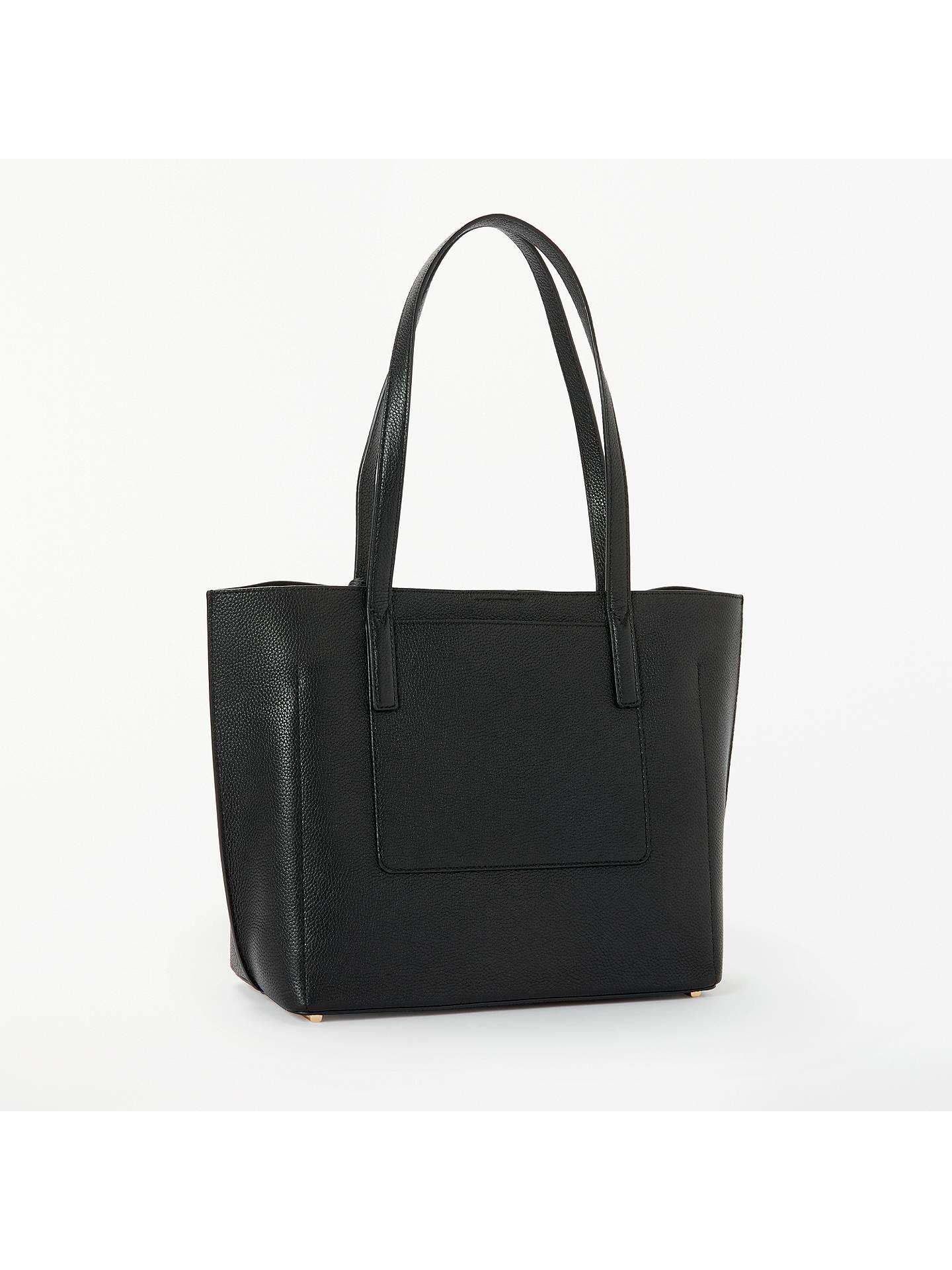 27231863395e ... order buymichael michael kors ana bonded leather tote bag black online  at johnlewis 9aa64 cf261 ...