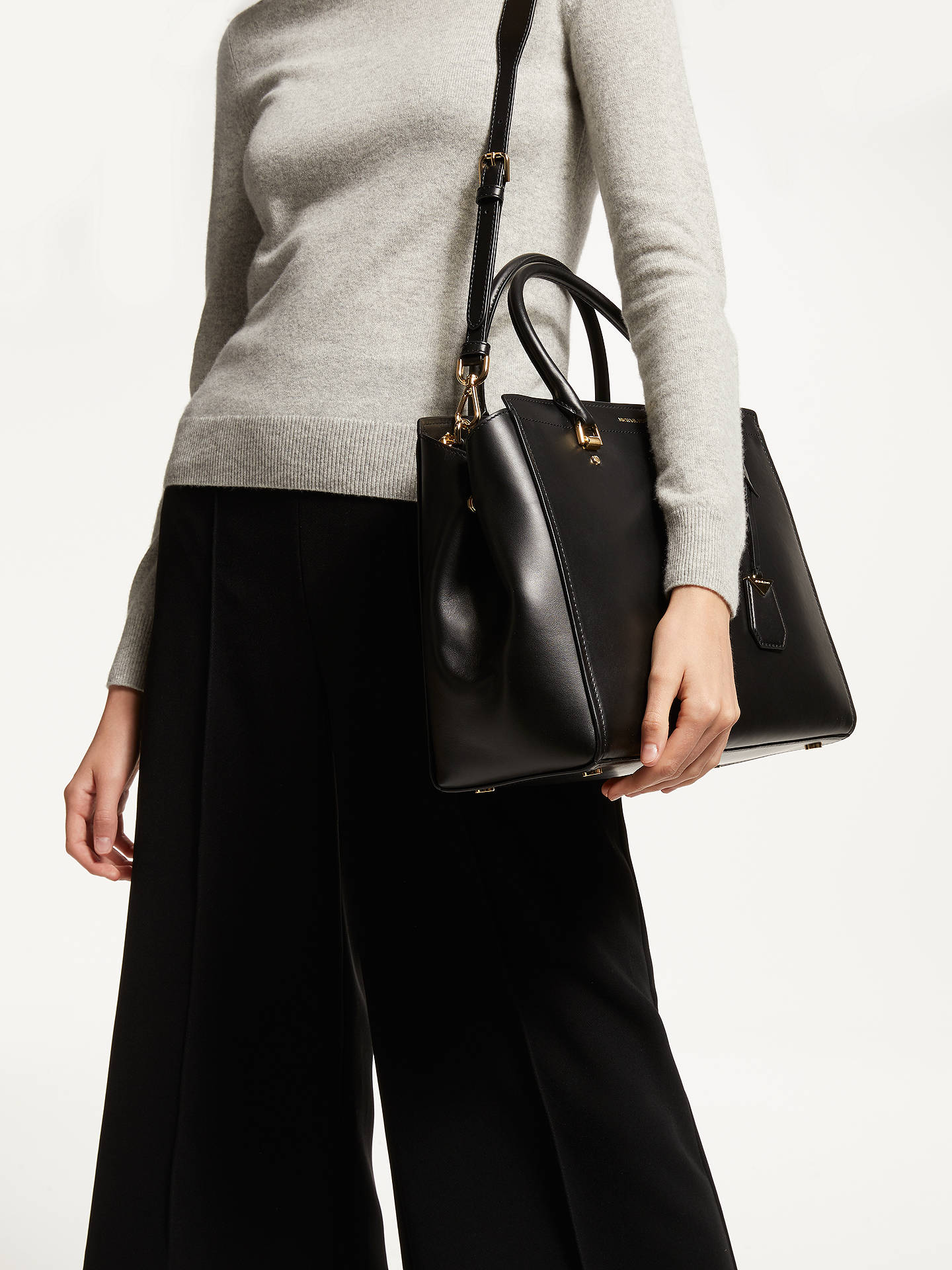 2a0b19087aa4f ... Buy MICHAEL Michael Kors Benning Extra Large Satchel, Black Online at  johnlewis.com