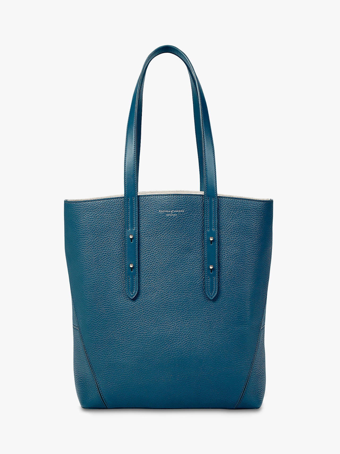 Aspinal Of London Essential Small Leather Tote Bag Topaz Online At Johnlewis