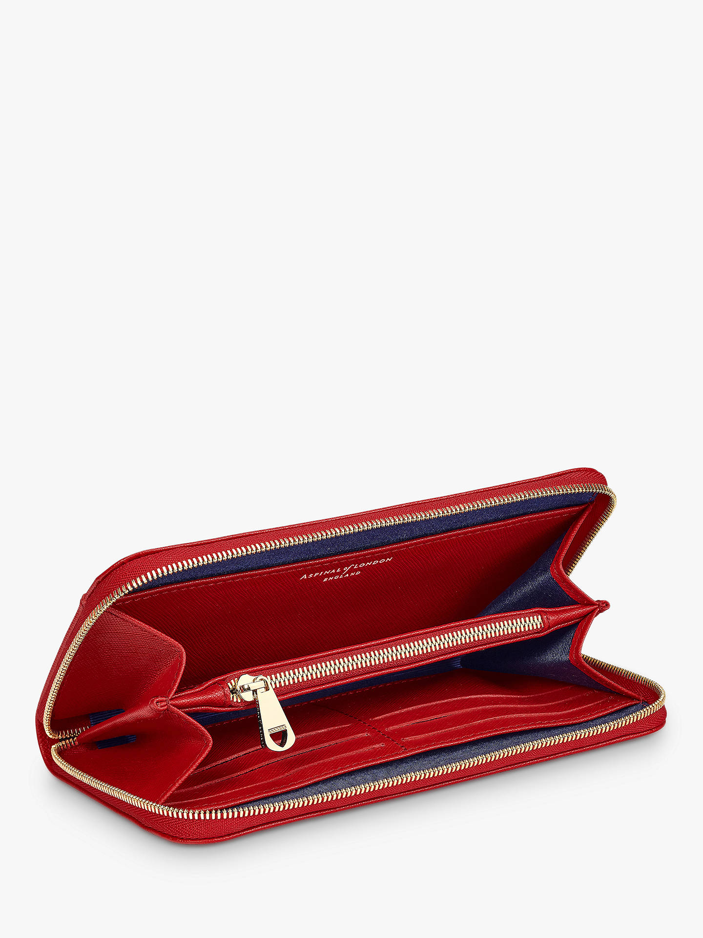 BuyAspinal of London Leather Continental Clutch Purse, Scarlet Online at johnlewis.com
