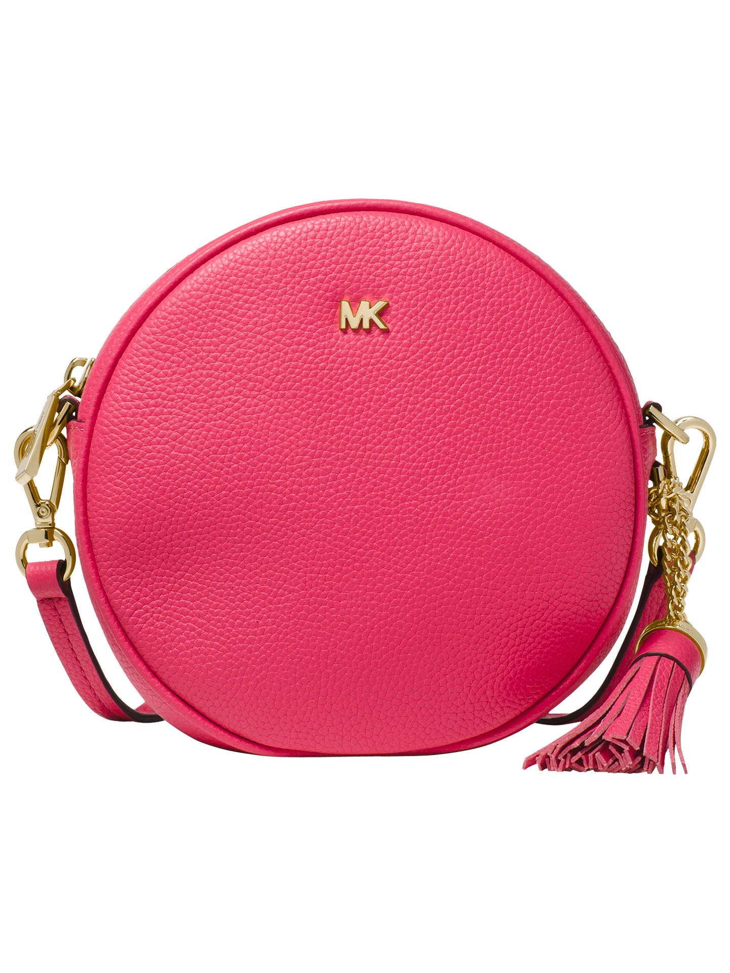 ea48d554aba Buy MICHAEL Michael Kors Canteen Leather Cross Body Bag, Rose Online at  johnlewis.com ...