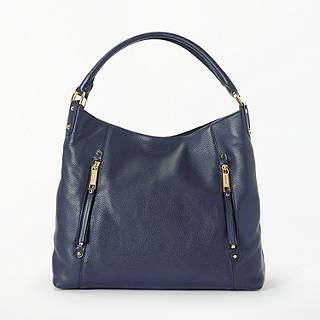 Michael Kors Evie Large Leather Shoulder Bag Admiral
