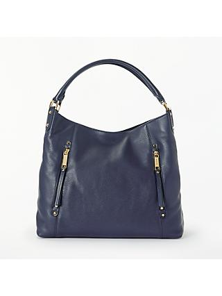 Michael Kors Evie Large Leather Shoulder Bag Admiral