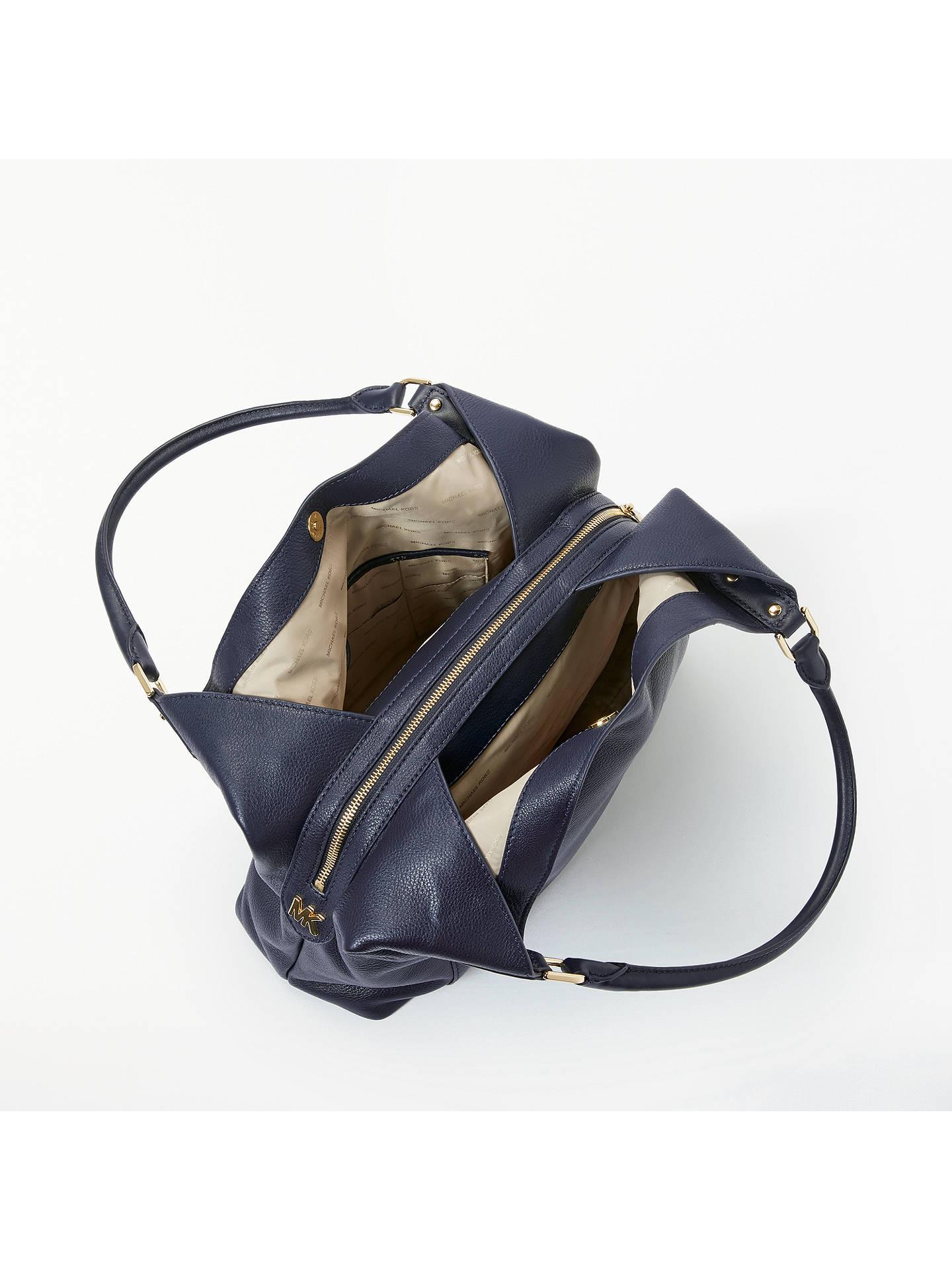 26e47abf78660c ... Buy MICHAEL Michael Kors Evie Large Leather Shoulder Bag, Admiral  Online at johnlewis.com ...