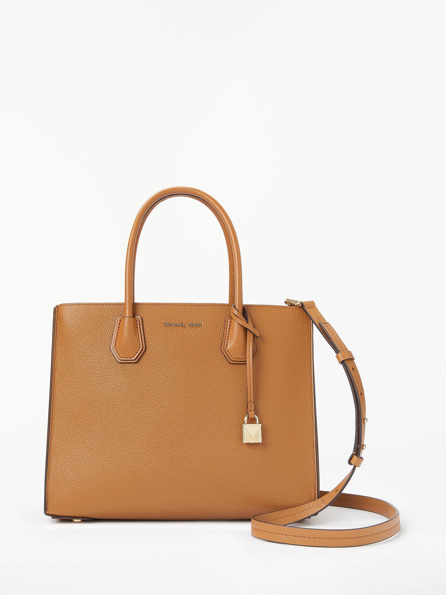 39c405da23e5 Buy MICHAEL Michael Kors Mercer Large Leather Tote Bag, Acorn Online at  johnlewis.com ...