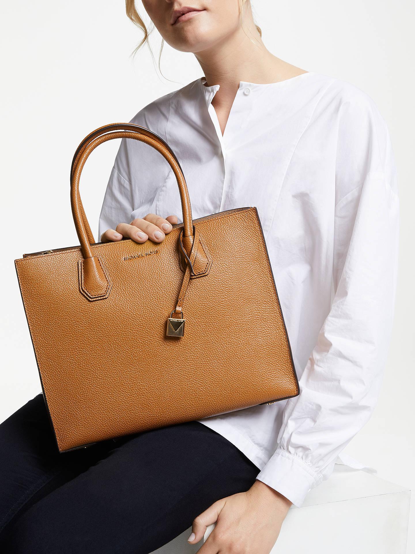 764fbdff0 ... Buy MICHAEL Michael Kors Mercer Large Leather Tote Bag, Acorn Online at  johnlewis.com ...