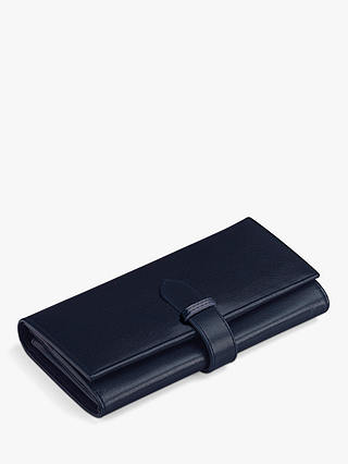 Buy Aspinal of London Ladies Leather Purse, Navy Online at johnlewis.com